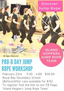 Professional Development Day Poster - Jump Rope Camp - February 23, 2018