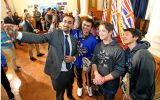Royal Bay students meet our Premier
